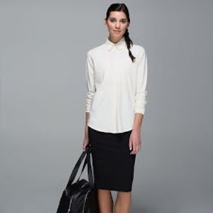 Lululemon LAB Day Trip Blouse - Ghost Ivory
